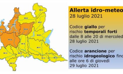 Sul Lecchese ancora allerta per rischio idrogeologico e temporali forti fino a domani