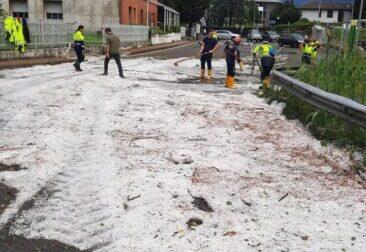 Grandinate: gravi danni alle coltivazioni nel Lecchese