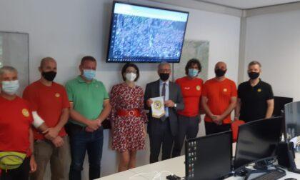 Il Prefetto de Rosa visita in visita alla sede del Soccorso Alpino