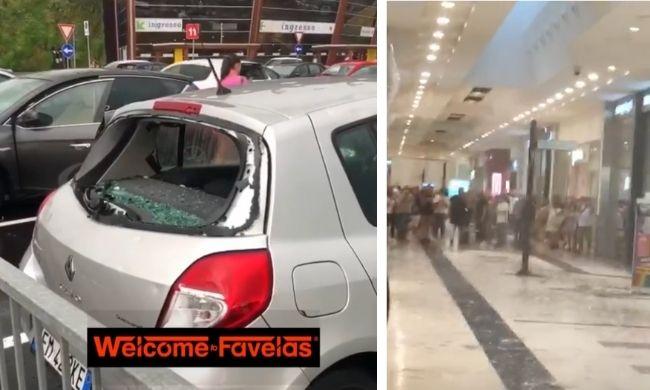 Ondata di maltempo sulla Lombardia: gli impressionanti video della grandine che rompe i vetri delle auto nel Milanese
