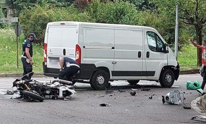 Scontro tra un furgone e una moto: 33enne lecchese in Rianimazione