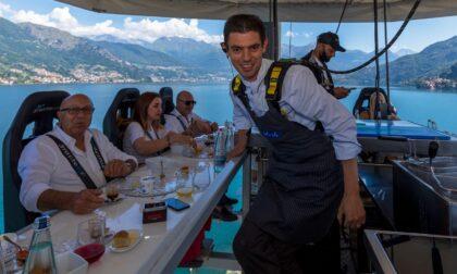 Dinner in the sky sul Lago: in 1400 hanno banchettato a 50 metri di altezza