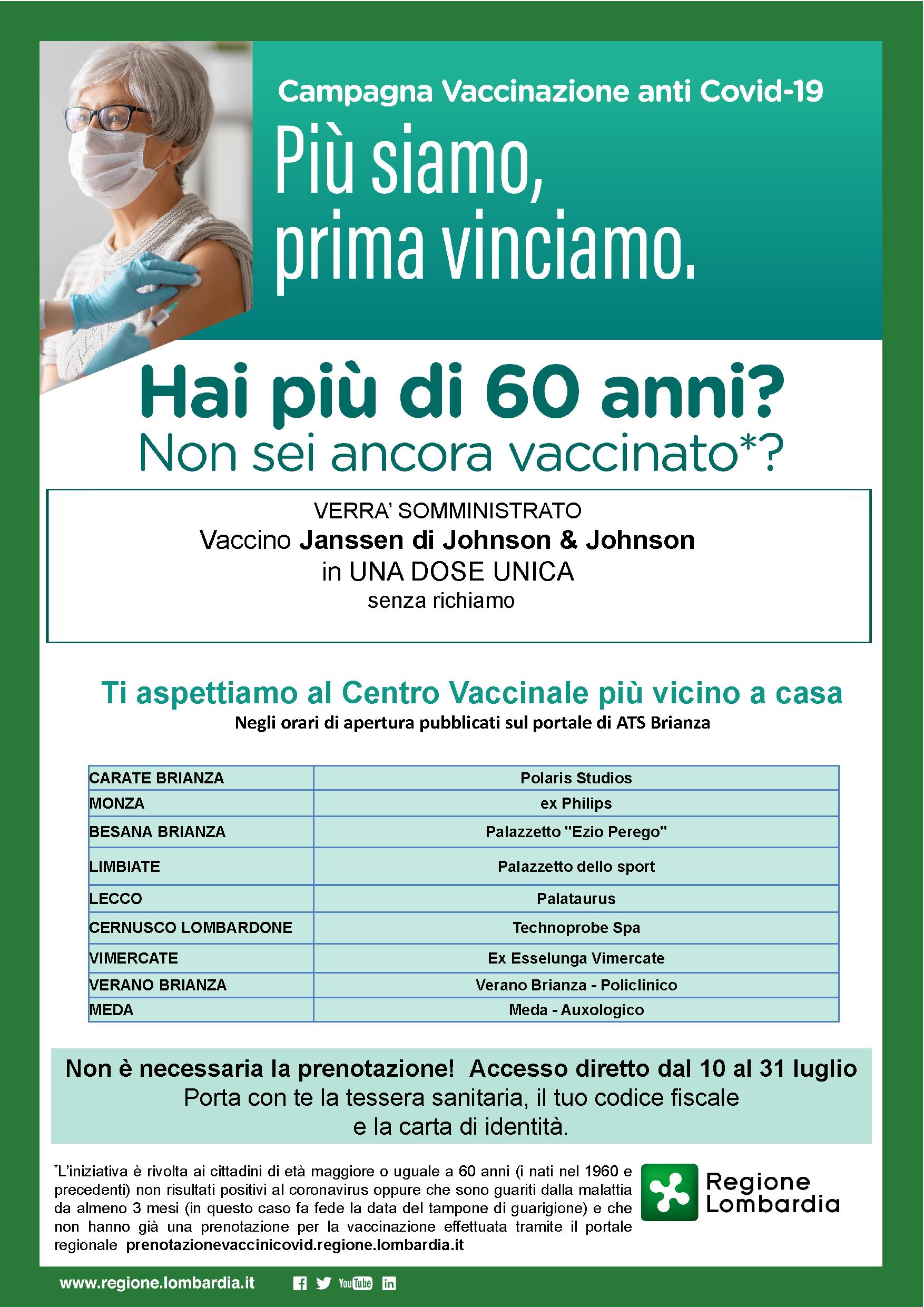 Over 60 non vaccinati