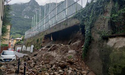 Paura, crolla un muraglione a Lecco: nottata di interventi per i Vigili del Fuoco