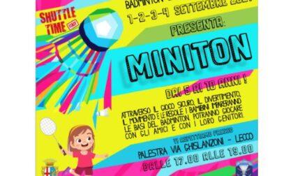 Dal primo settembre riparte il Badminton, al via anche il Miniton