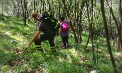 Escursionista in difficoltà, Vigili del fuoco al lavoro