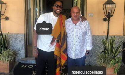"""A Bellagio un ospite """"stellare"""": Derrik Rose, giocatore Nba dei New York Knicks"""