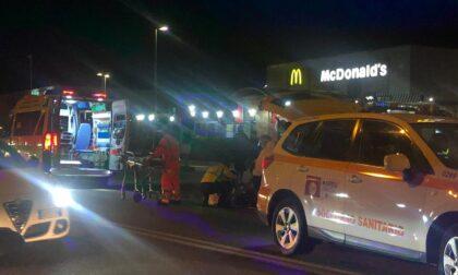 Incidente auto moto, ferito un trentanovenne