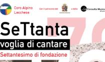 70esimo del Coro Alpino Lecchese questa sera a San Giovanni