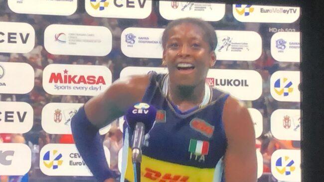 l'italia conquista anche gli europei d volley, miriam sylla