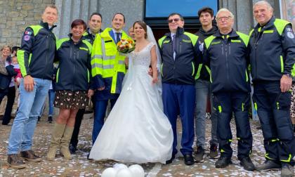 Coronato il sogno d'amore: il sindaco di Valgreghentino ha detto sì alla sua Elisa